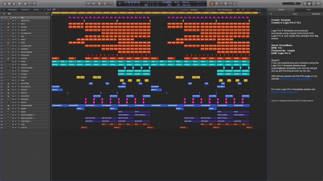 Freefall-Logic-X-Template