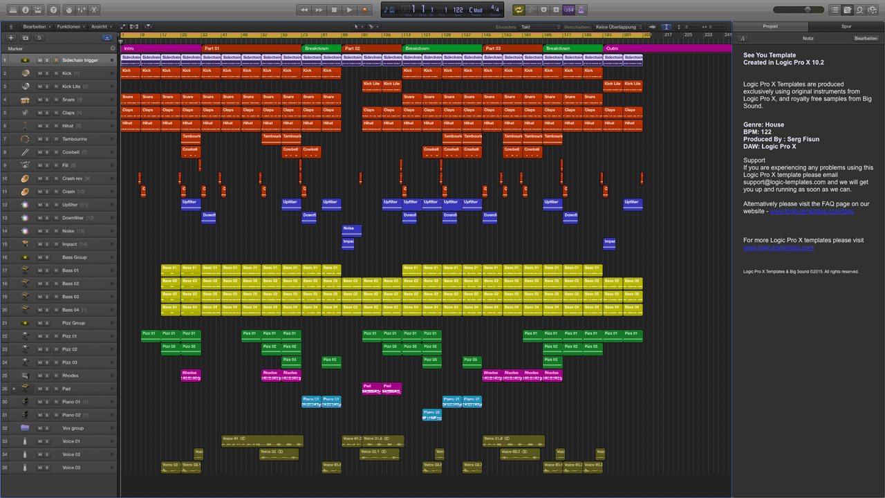 See You Logic Pro X Template