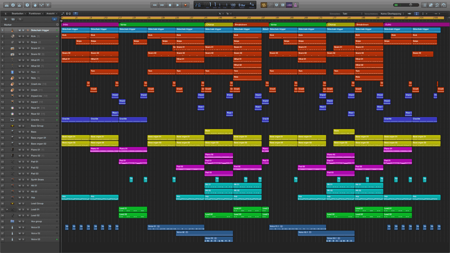 Dancehall Logic Pro X Template