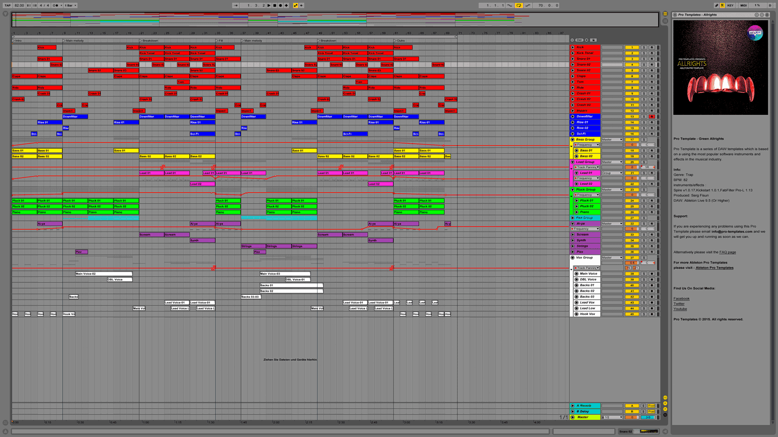 Allrights Ableton Pro Template