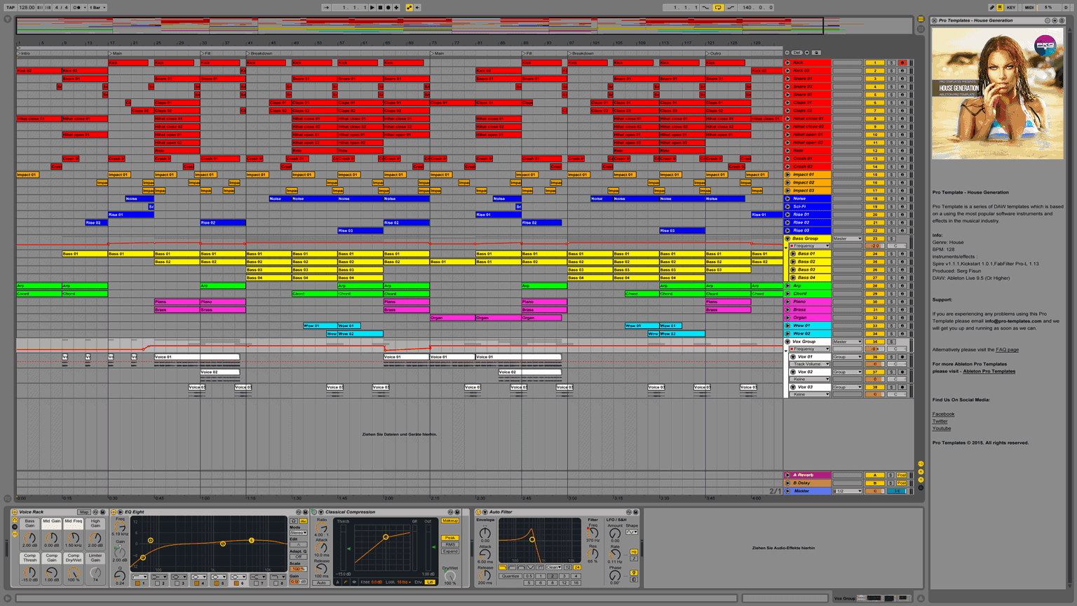 House Generation Ableton Pro Template