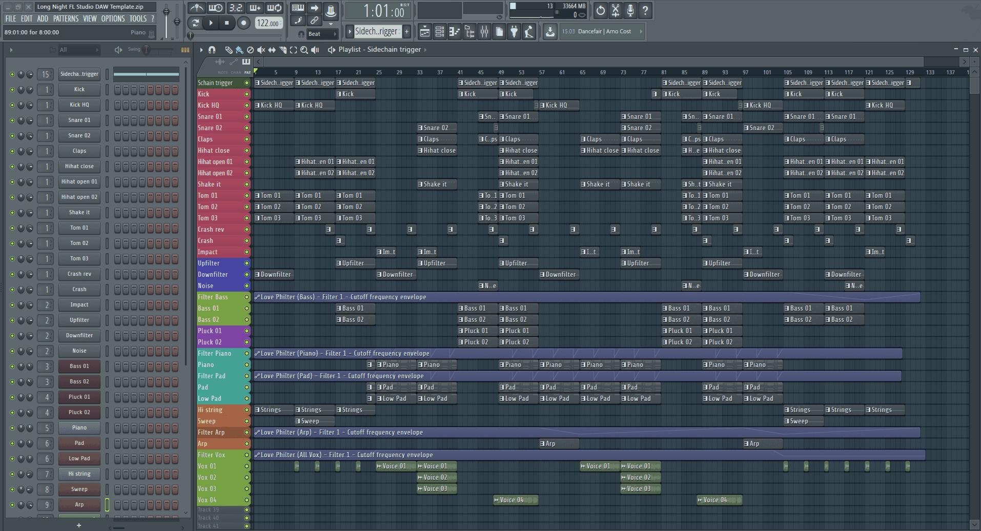 Long Night FL Studio DAW Template