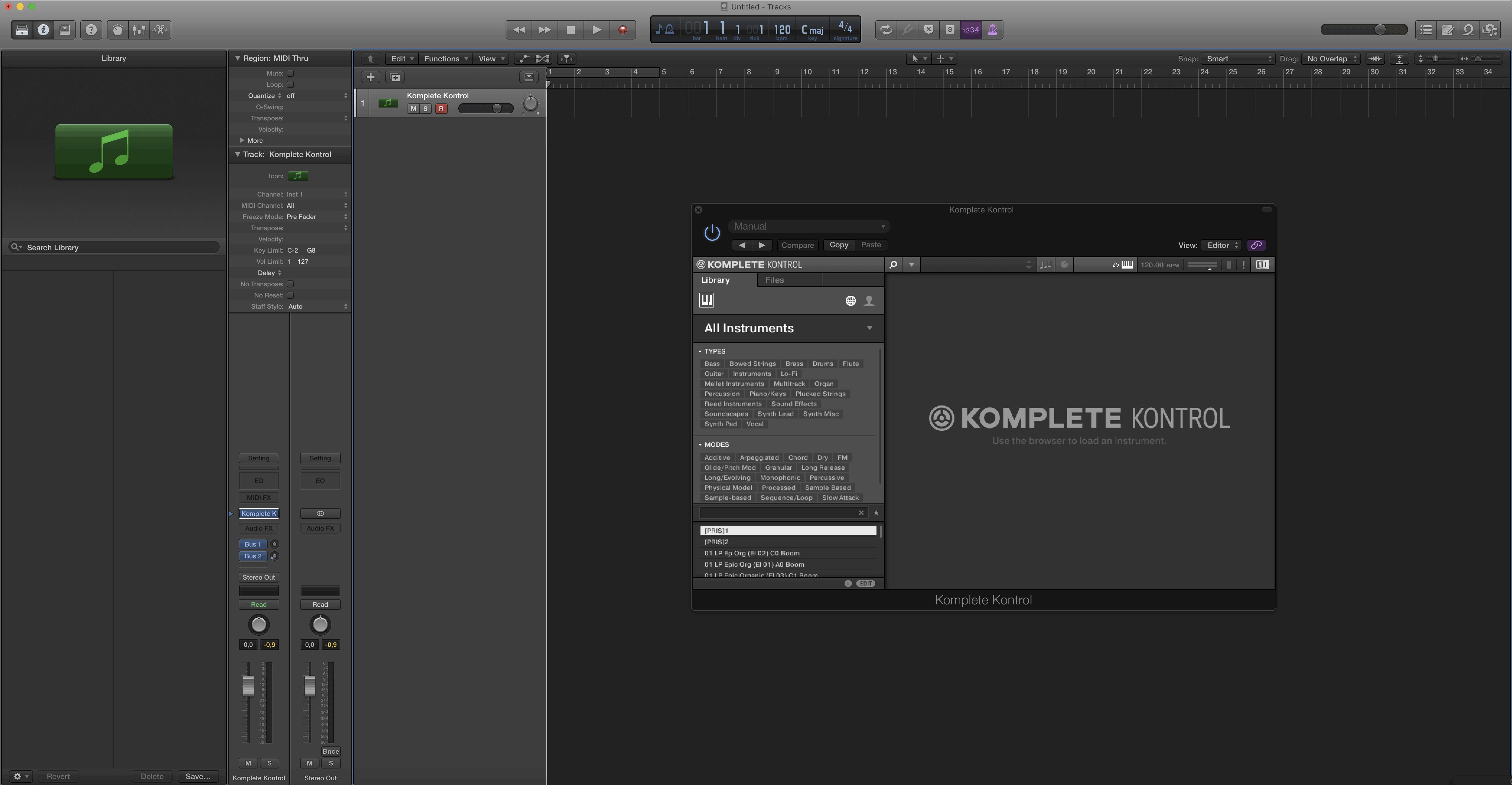 Setup Logic Pro X for using it with KOMPLETE KONTROL