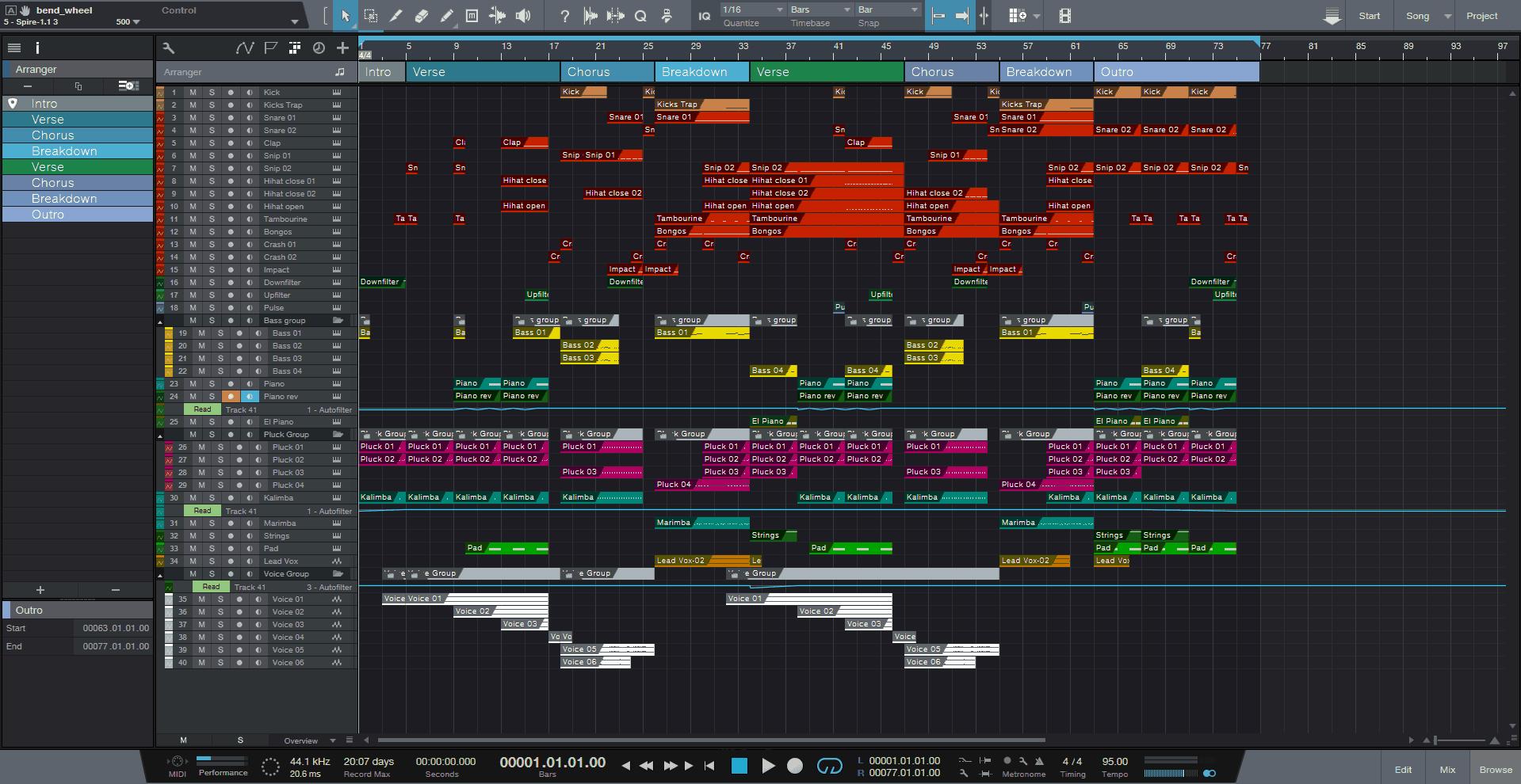 Caramel Studio One Pro Template