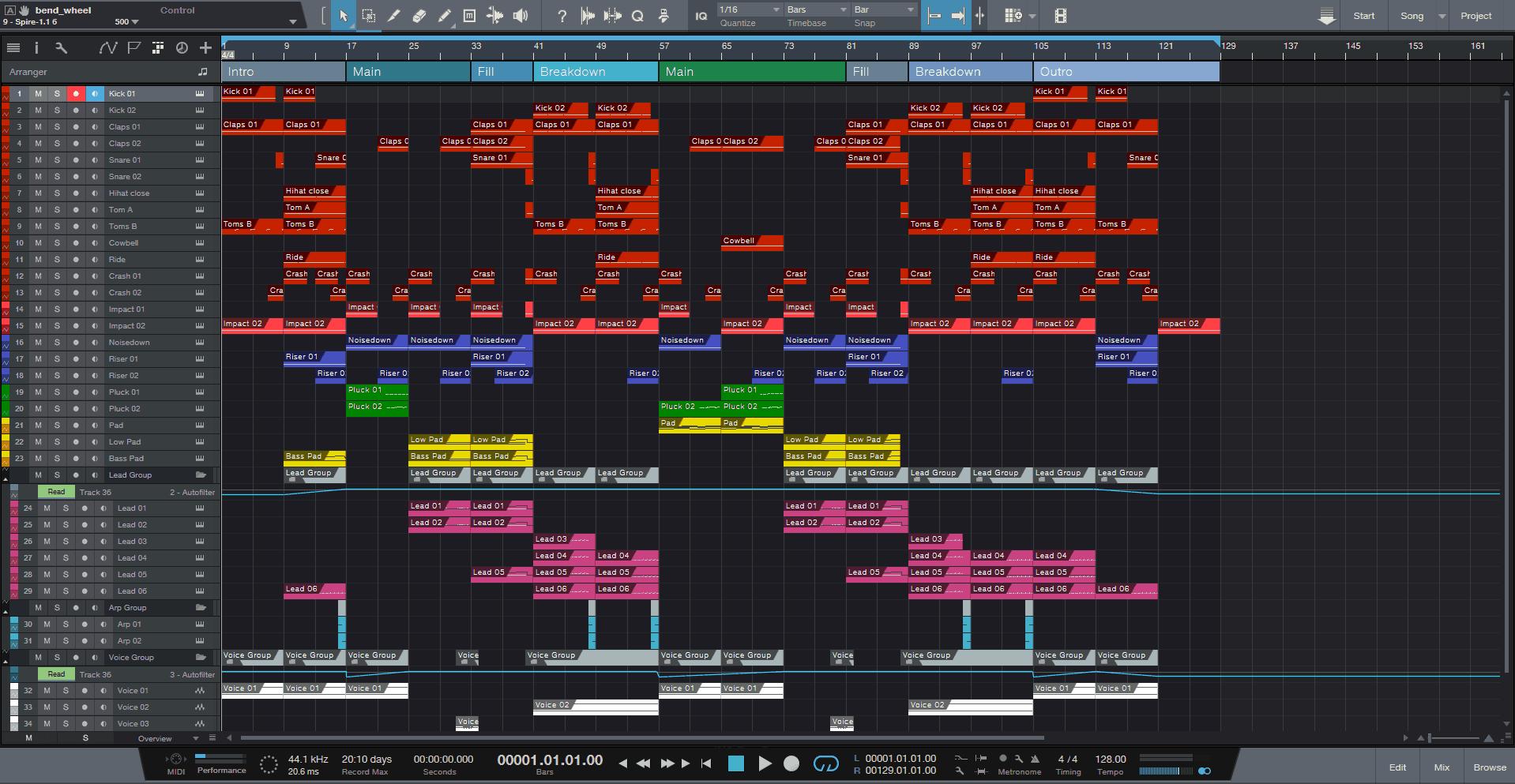 EDM Voice Studio One Pro Template