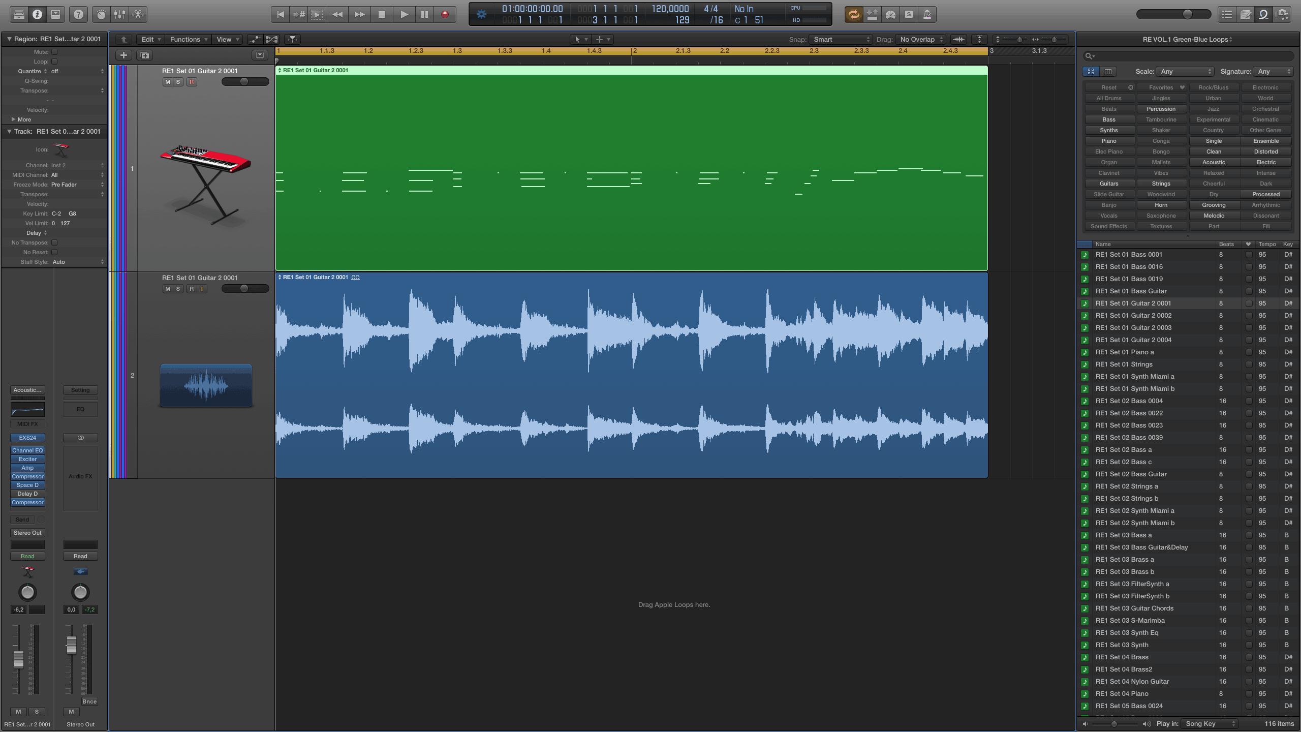 Green Apple Loops in Logic Pro