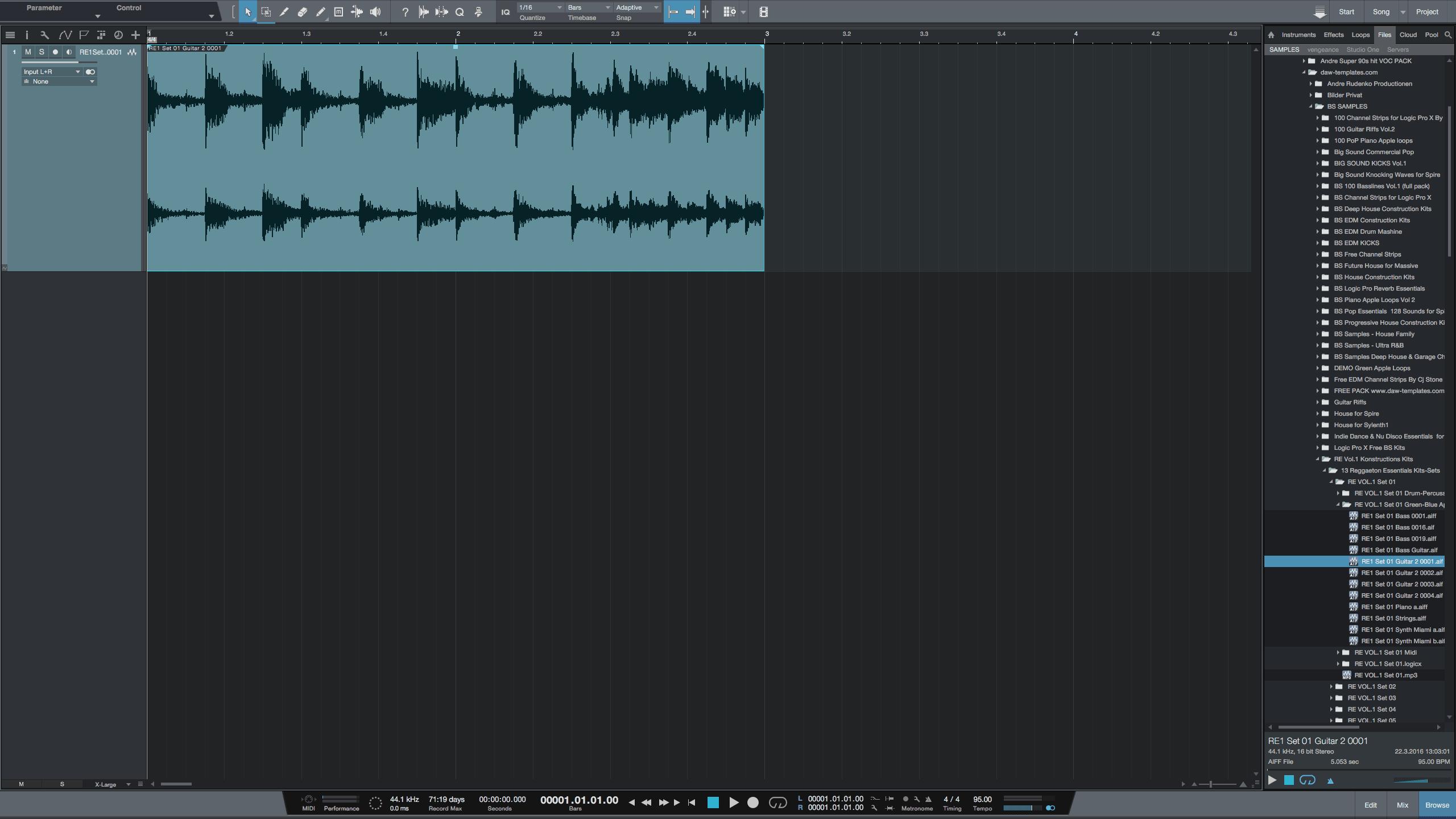 Green Apple Loops in Studio One 3.2.1