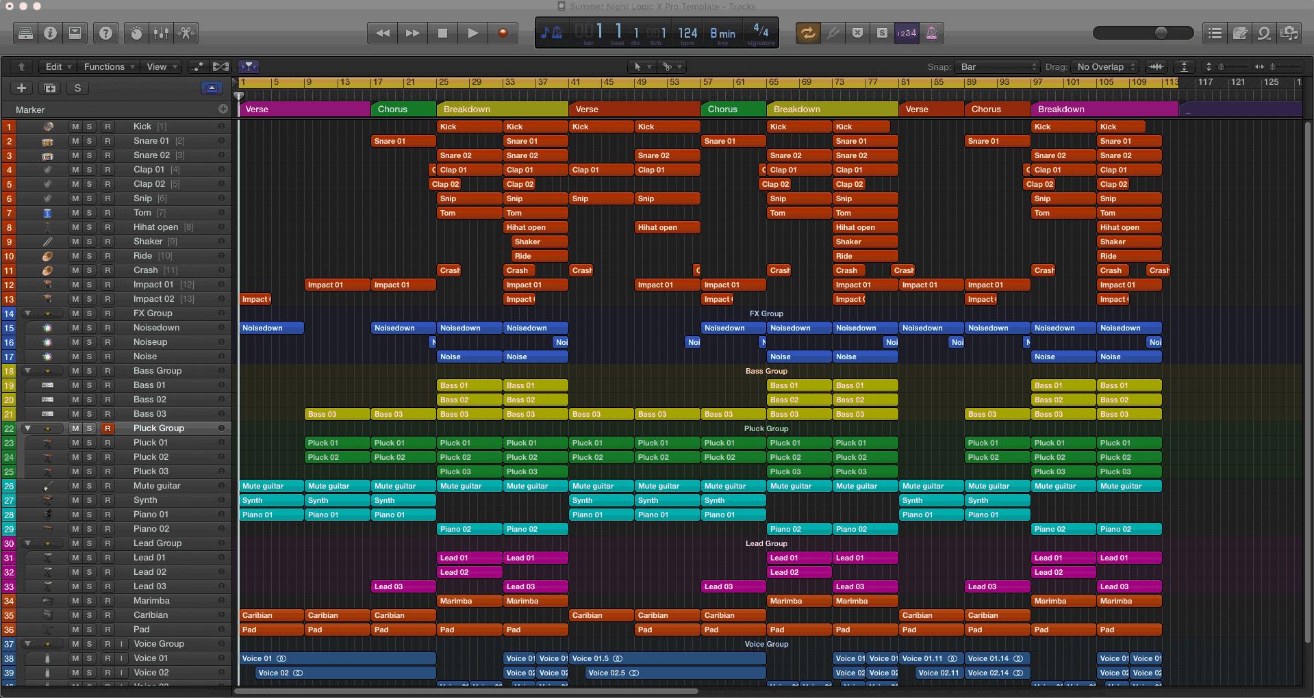 Summer Night Logic X Pro Template