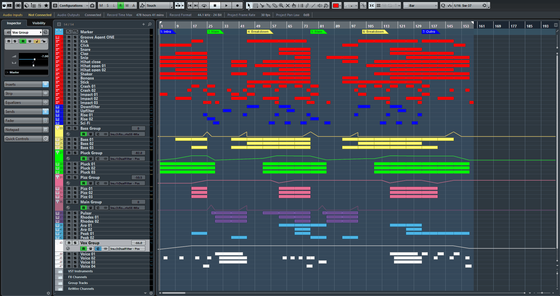Abstract Voice Cubase Pro Template