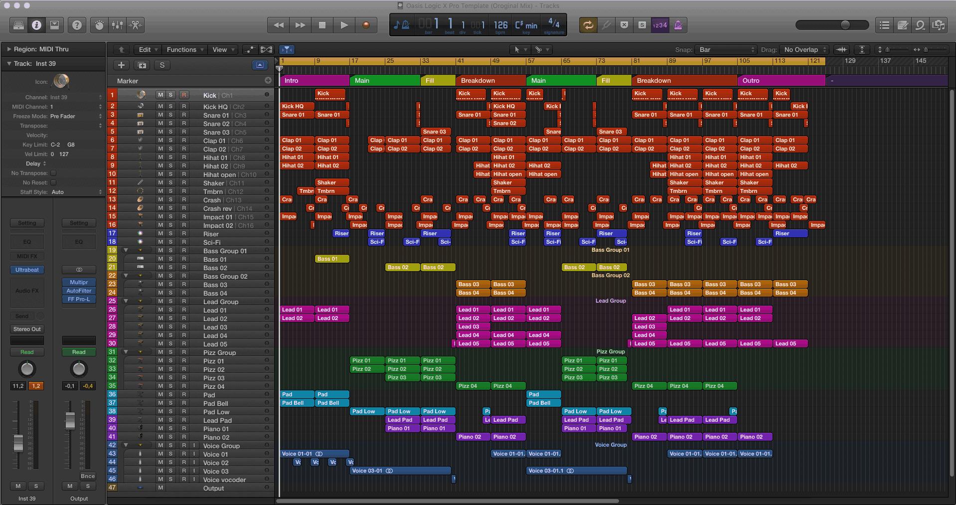 Oasis Logic X Pro Template