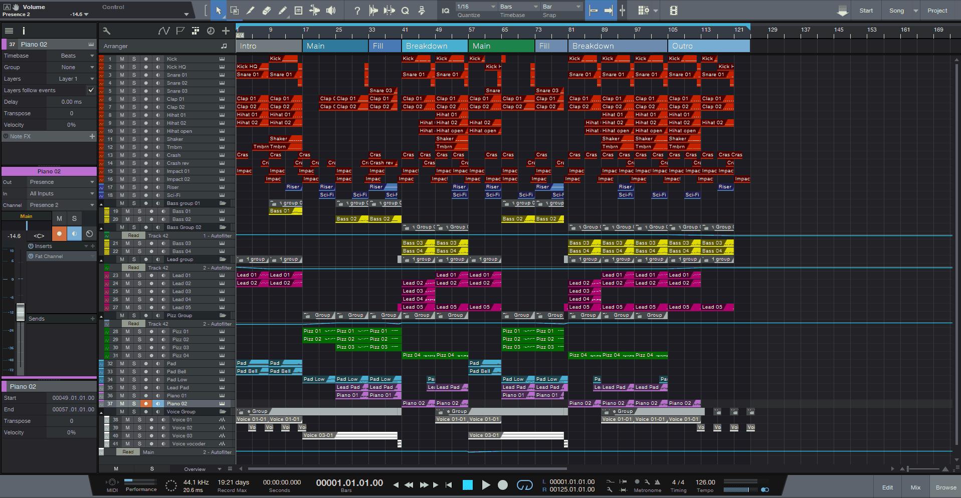 Oasis Studio One Pro Template