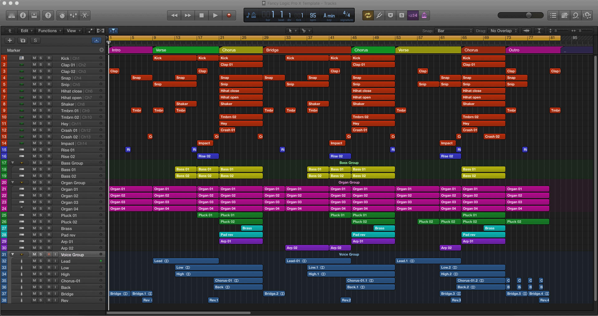 Fancy Logic Pro X Template