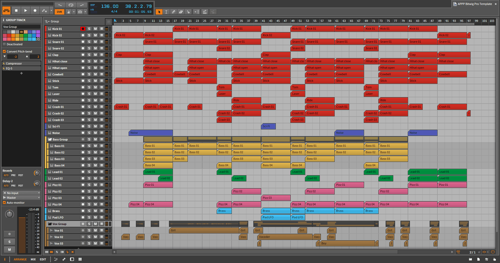 appp-bitwig-pro-template