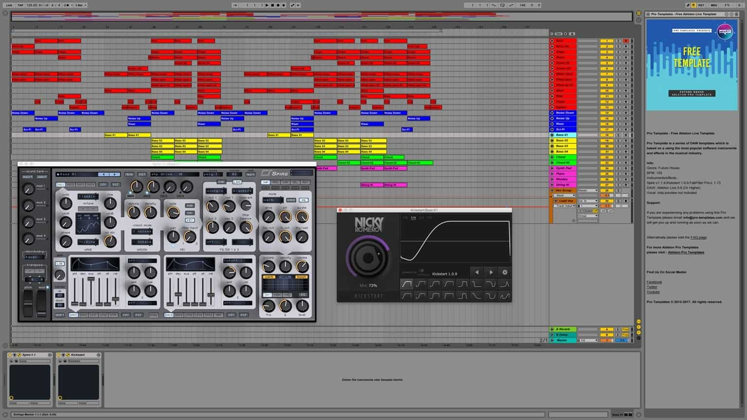 Ableton live projects deep house