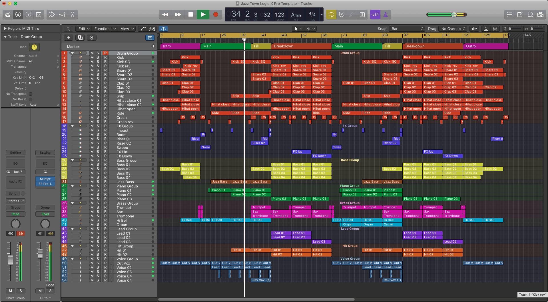 Jazz Town Logic X Pro Template