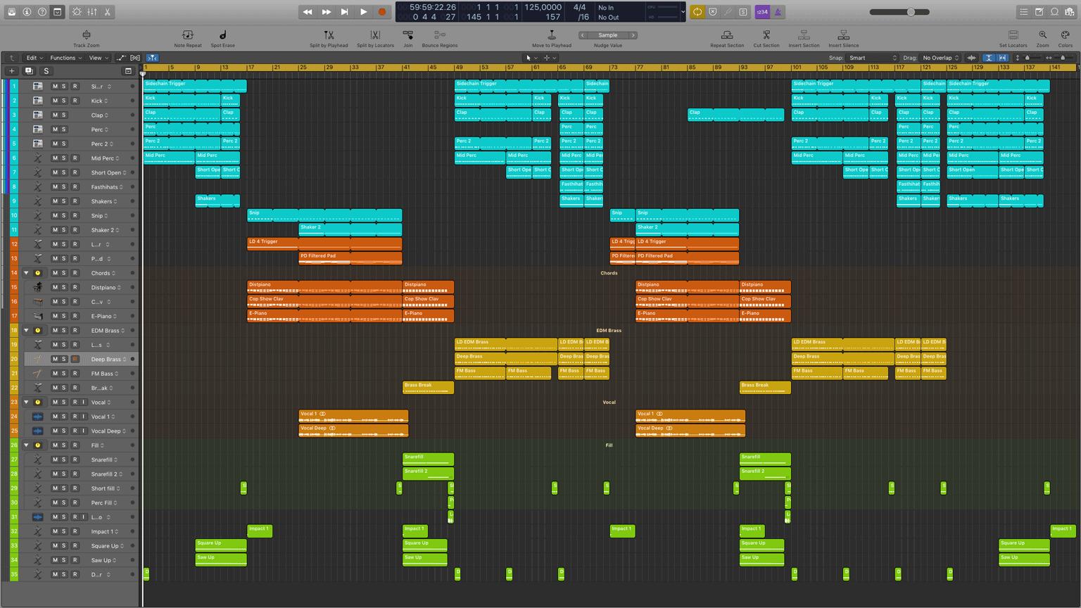 Weekend Logic Pro X Template