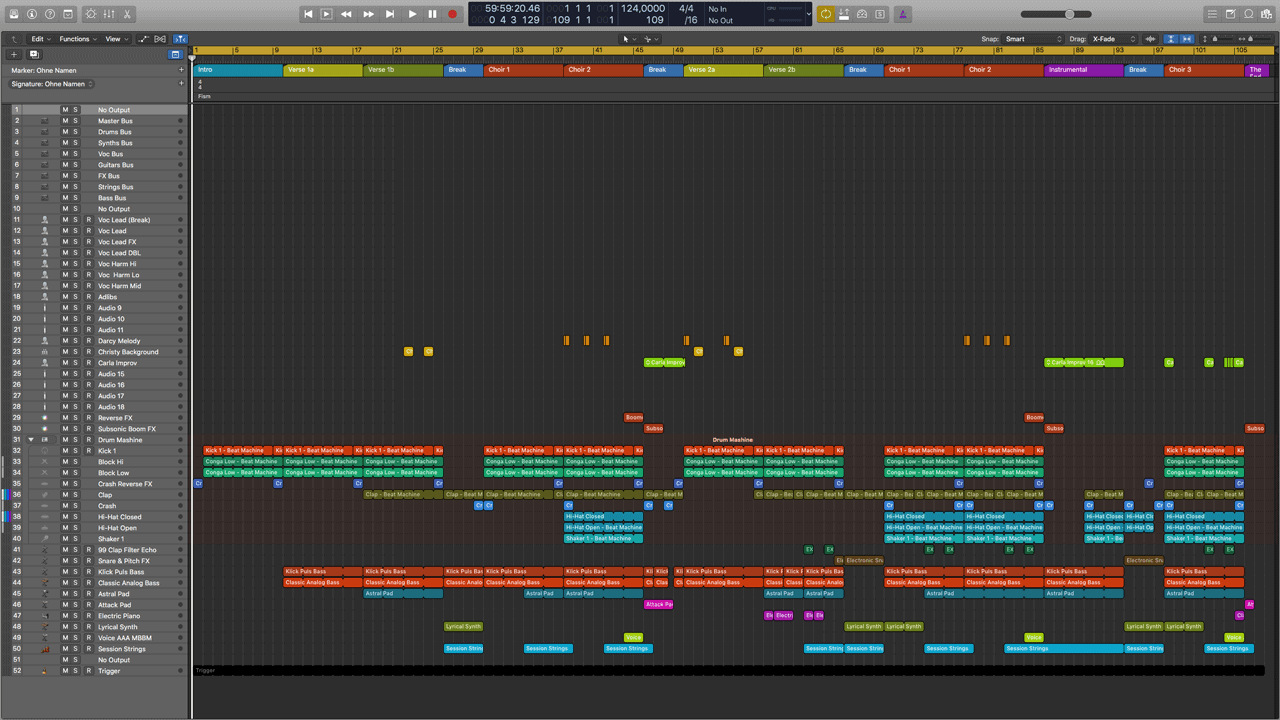 Count Down Logic Pro X Template