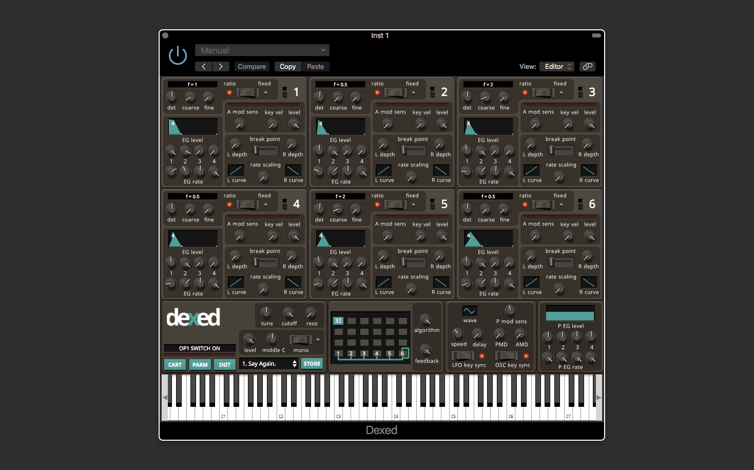 Dexed – Free FM Plugin Synth