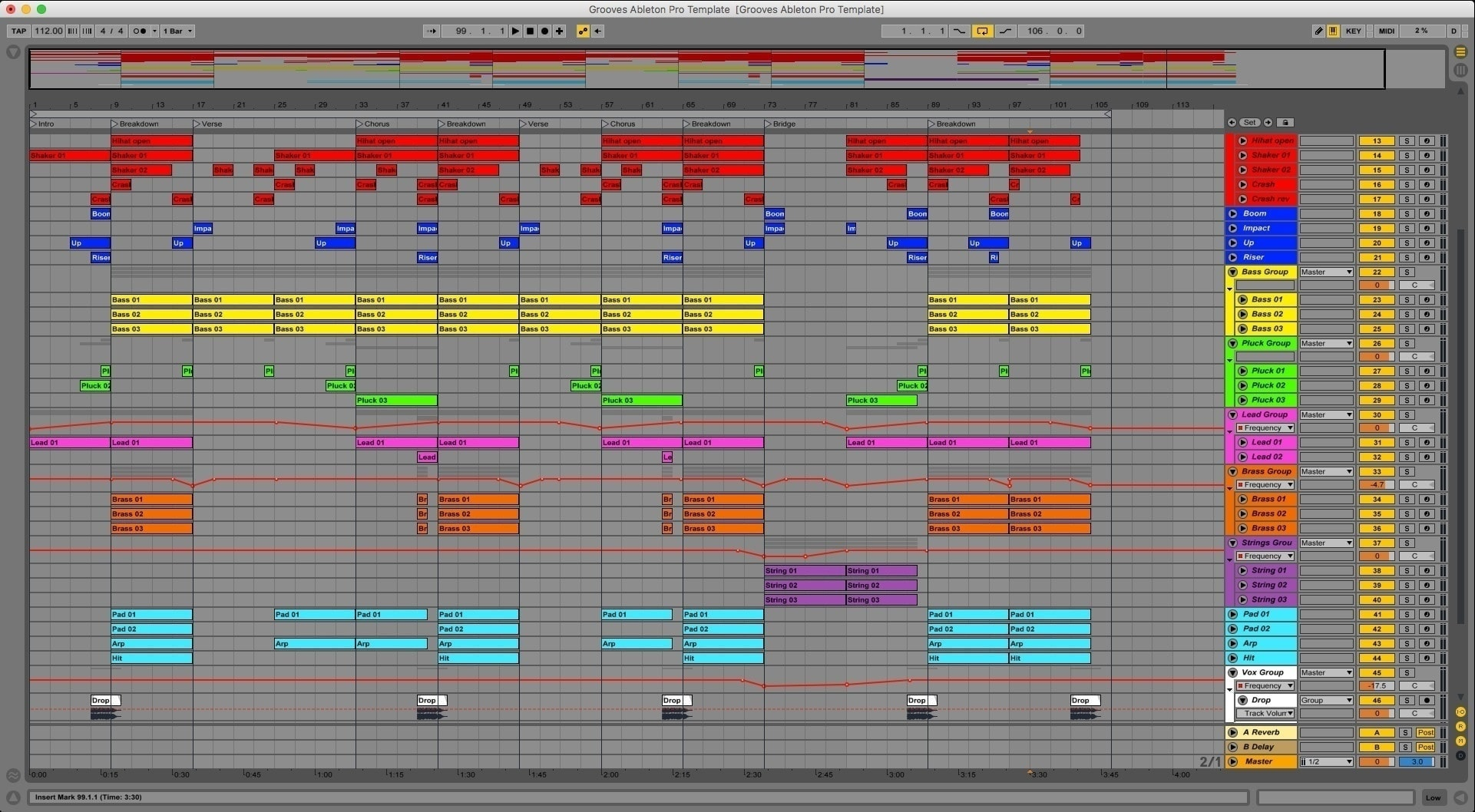 Grooves Ableton Live Template